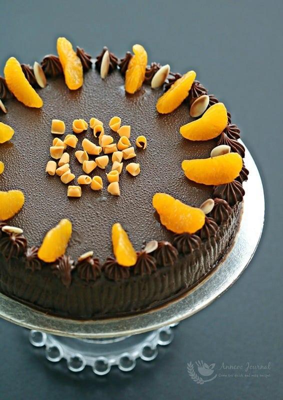 orange chocolate cream cake
