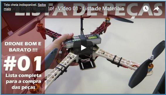 Como construir um drone barato