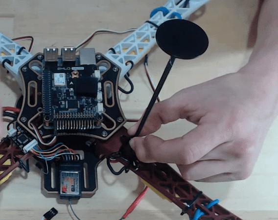 Installing GPS Mount to diy drone kit