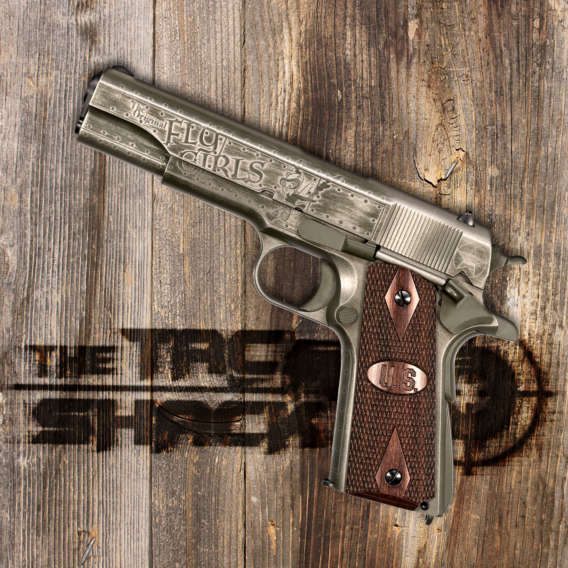 1911 semi auromatic pistol on wood for tac shack gun webinars