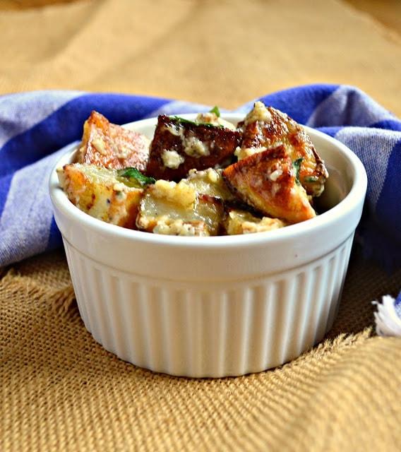 Roasted Potato Salad with Garlic