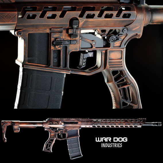 skeletonized AR 15 rifle for firearm webinars