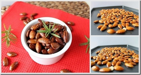 Spicy Rosemary Almonds