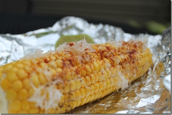 parmesan lime corn on the cob