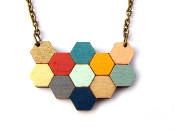 simple, geometric and super effective jewelry for adding that pop of color and bit of hipness to any outfit | 40plusstyle.com