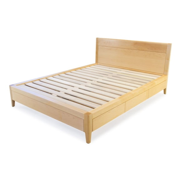 maple storage bed