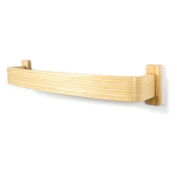 ash bentwood towel bar - overall view
