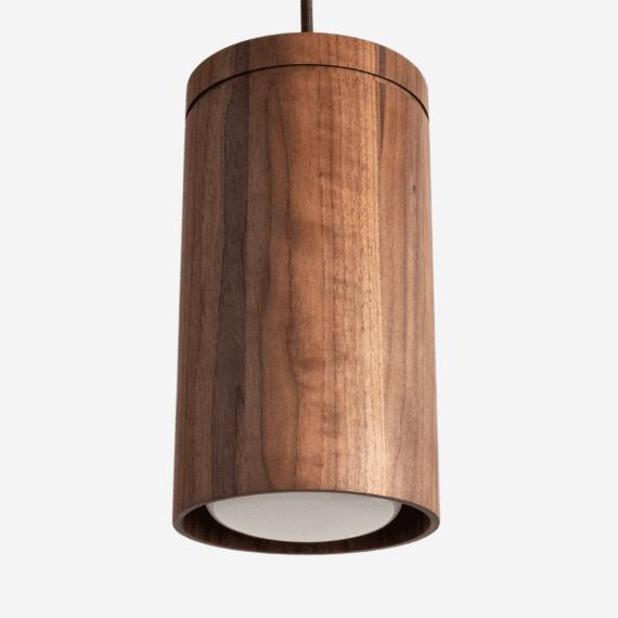 large wood cylinder pendant light - restaurant lighting - kitchen island light - modern home lighting - contemporary lighting