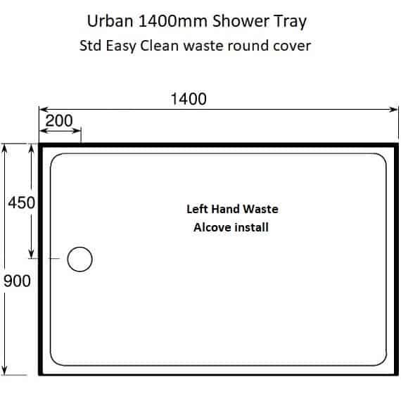 Urban 1400 x 900 Alcove LH waste