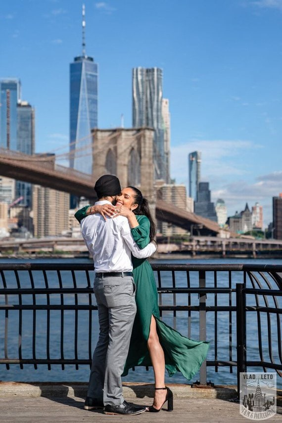 Photo 7 BEST Proposal Reaction! Brooklyn bridge park. | VladLeto