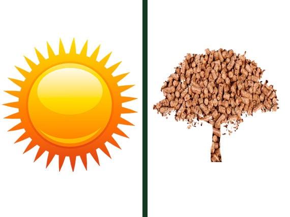 solar y biomasa compiten en ahorro energetico