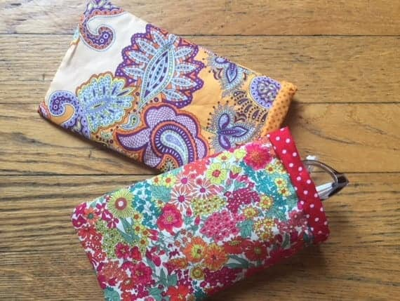 DIY sewing project for glasses case