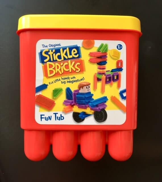 Stickle Bricks Fun Tub, Stickle Bricks big red bucket