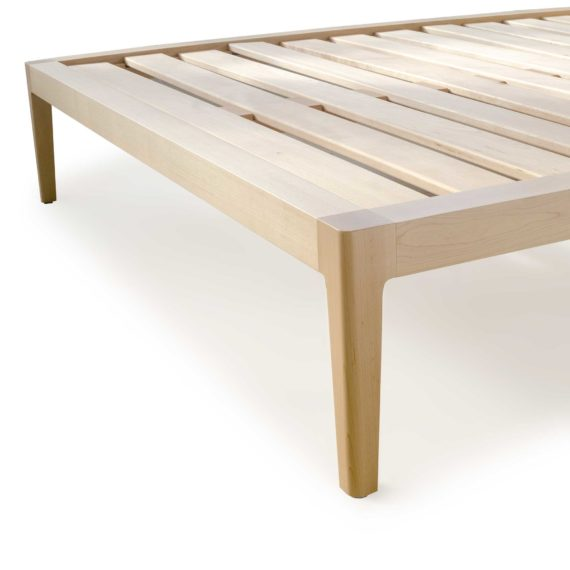 maple platform bed no. 1 - modern maple bed - solid wood bed frame