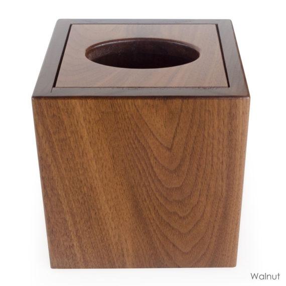 walnut wood tissue box cover