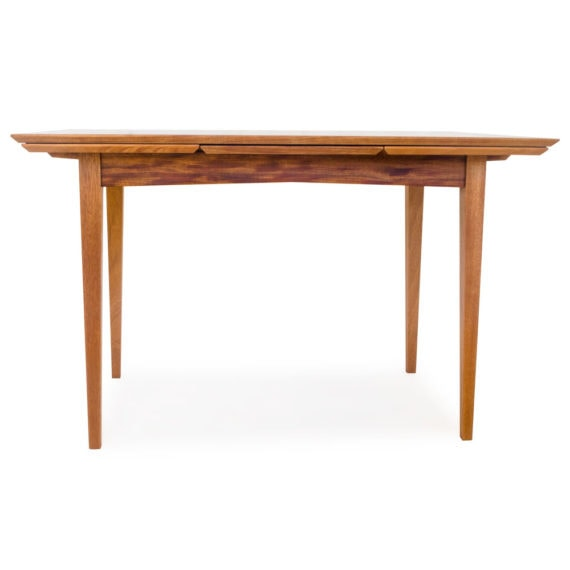 mahogany draw leaf table