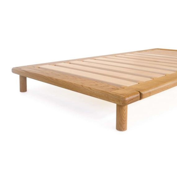 oak platform bed no headboard