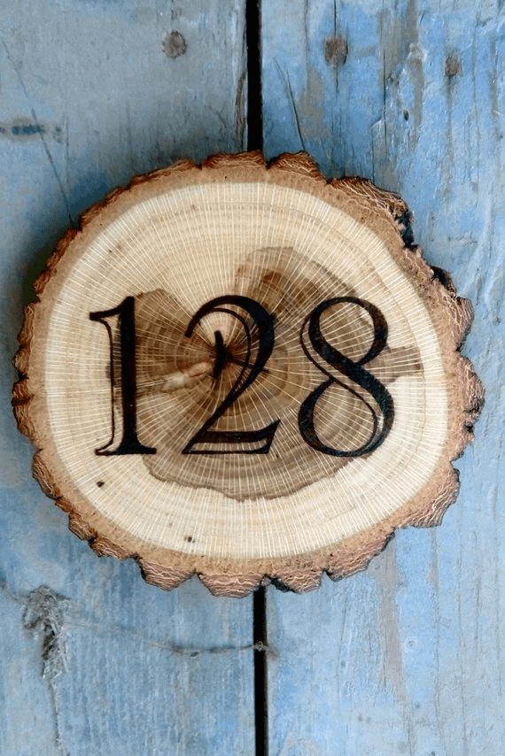 Rustic Number Plaque design ideas
