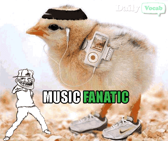 Fanatic Vocabulary word with picture