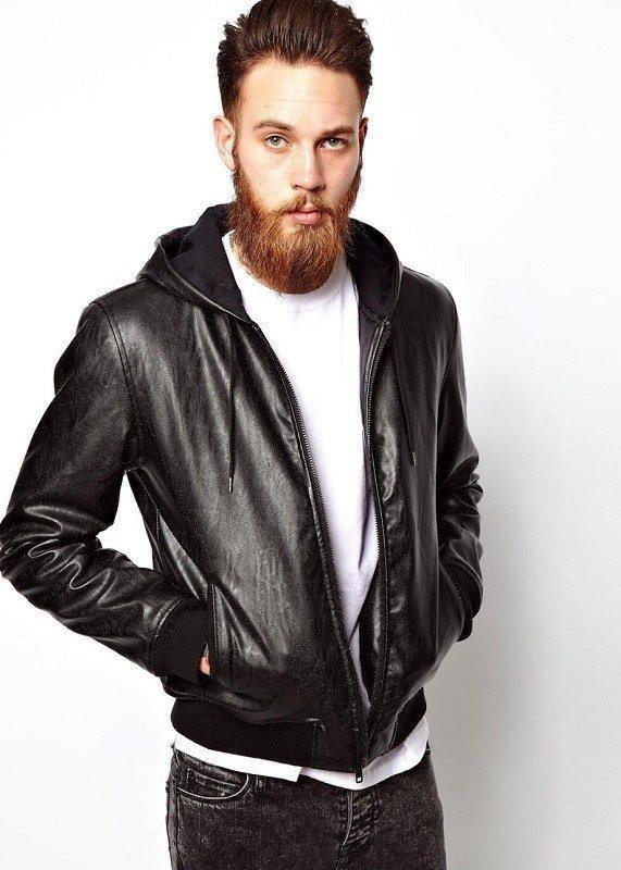 Кожаная casual куртка
