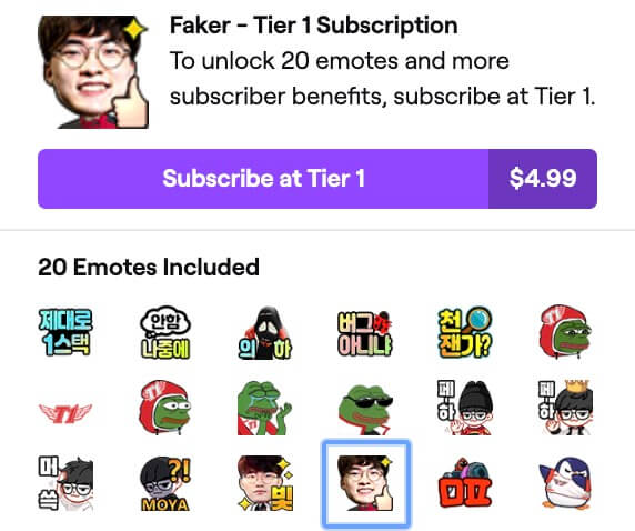 twitch emote with icons