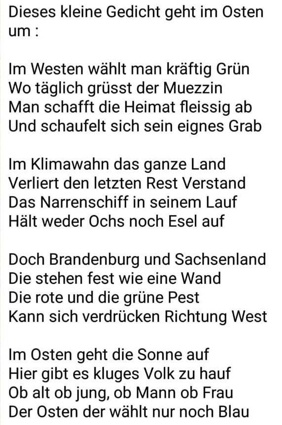 Gedicht Verfasser unbekannt)