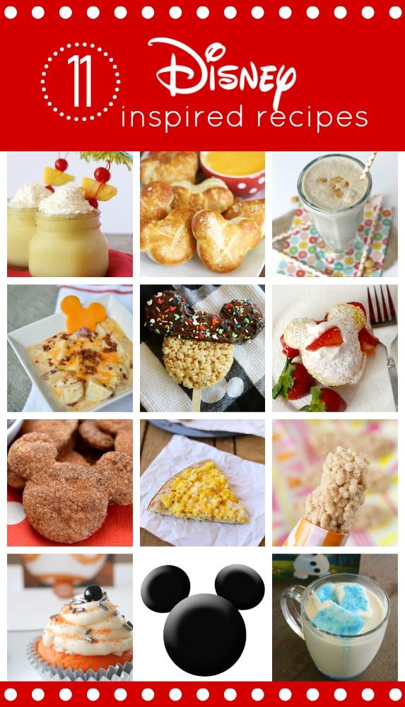 11 Disney-Inspired Recipes you have to try! #DisneySide #DisneySMMC