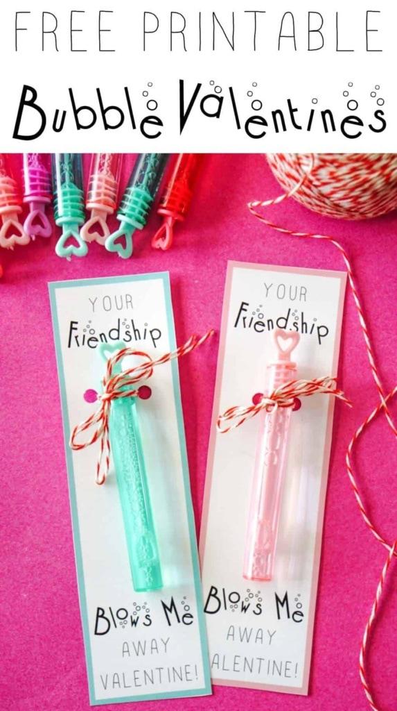 Printable Valentines Cards. Bubble Valentine Printable. Free printable Valentines. Your Friendship Blows me Away. #Valentines #printablevalentines #bubblevalentines #kidsvalentines