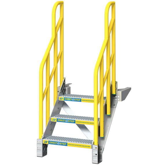 Prefabricated Metal Aluminum Stairs - 3 step model shown