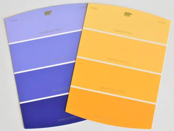 complimentary colors paint chips