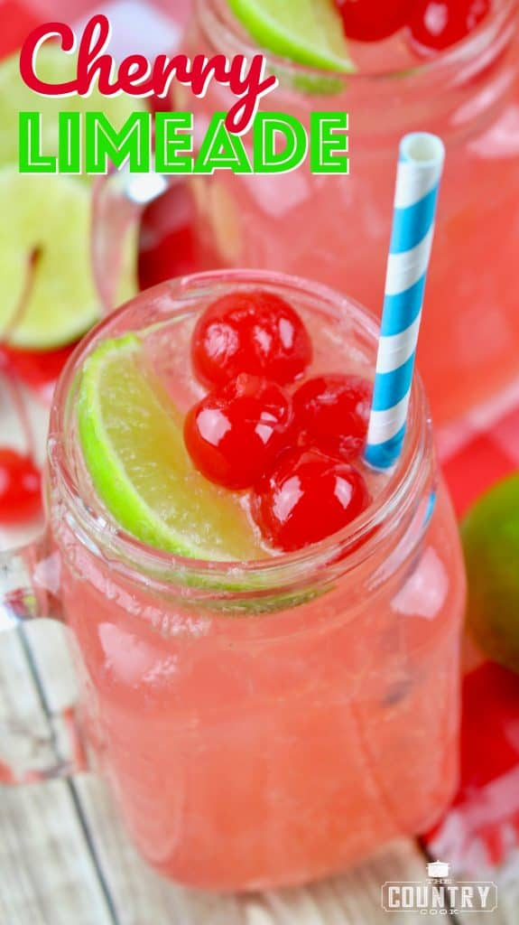Cherry Limeade recipe from The Country Cook