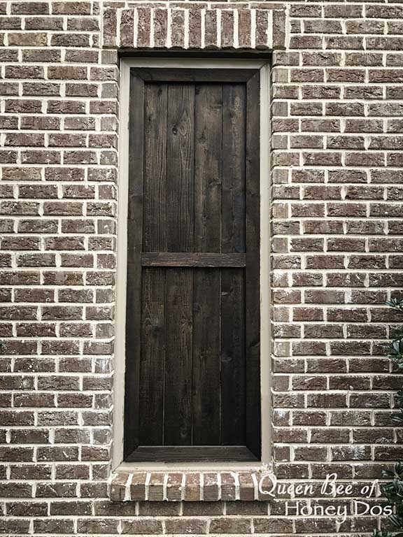 refinish cedar shutters