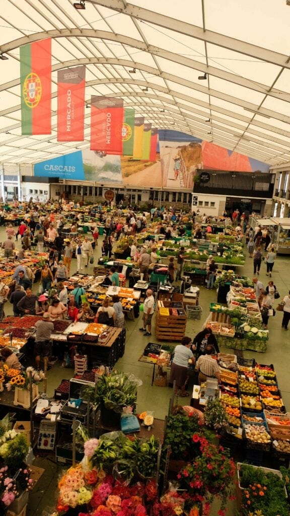Organic markets in Cascais, Portugal