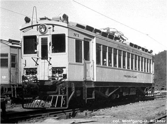 Máquina eléctrica en el Ferrocarril de Los Altos