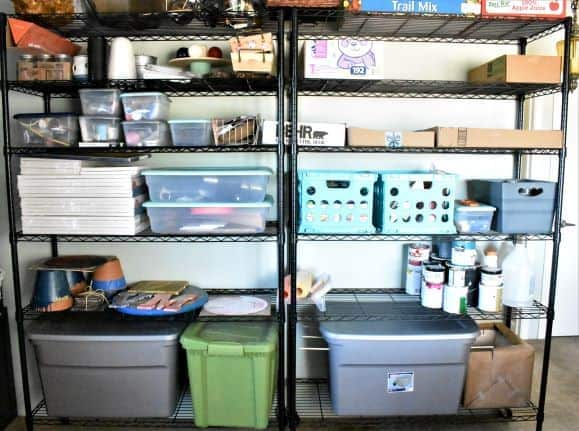 Craft room shelving idea