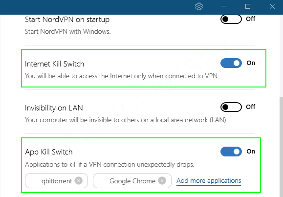 qbittorrent VPN kill-switch (NordVPN)