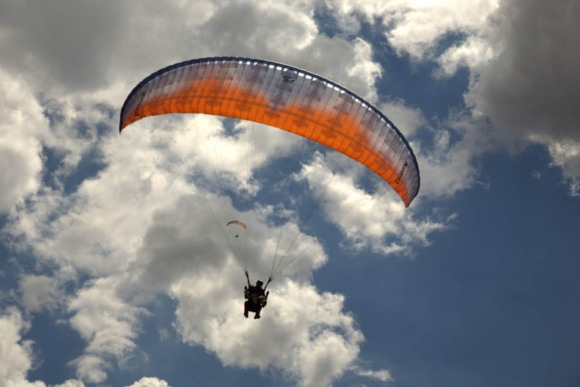 Полёт на параплане с видеосъемкой над Бакотой