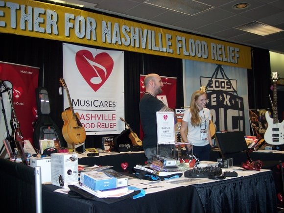 Nashville Flood Relief booth