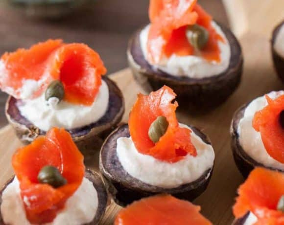 Smoked Salmon Potato Canapes