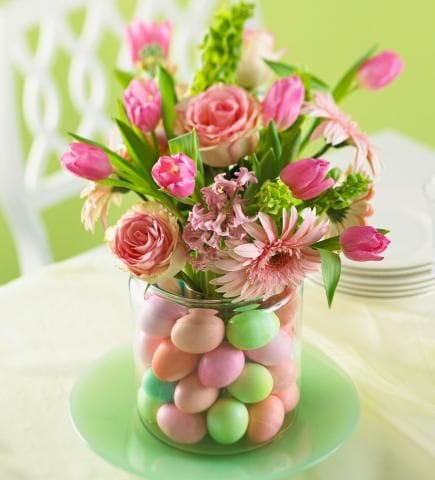 44 Bright and Easy Spring Centerpieces  Add pretty spring flair to your home with our ideas for centerpieces, table settings, door decorations, Easter egg displays and more.