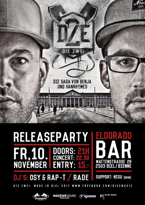 Flyer Die2 Releasparty A6