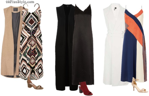 How to wear a slip dress over 40 - 7 different options to choose from | 40plusstyle.com