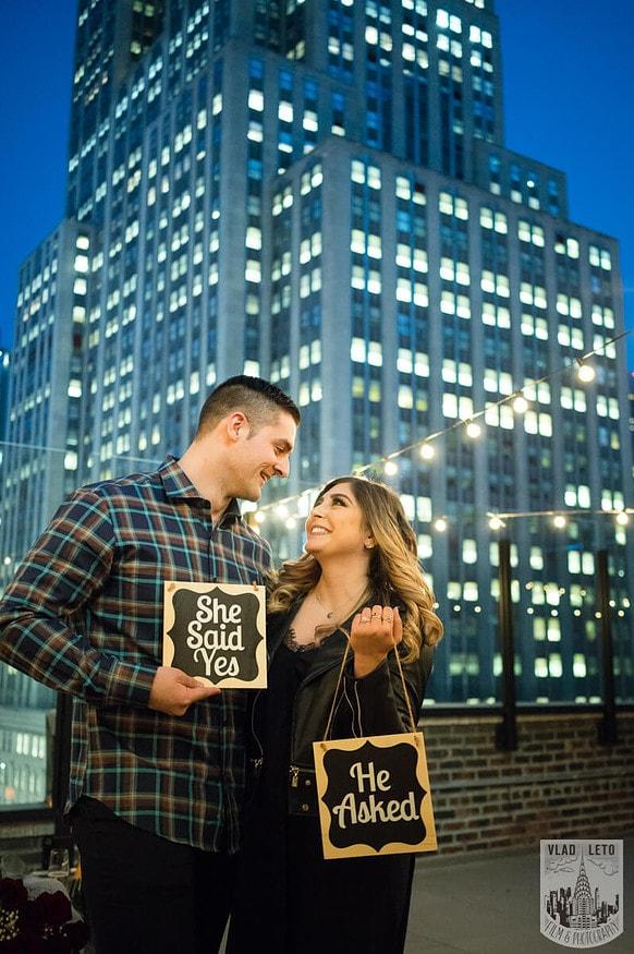 Photo 25 Empire state building view Surprise Marriage Proposal | VladLeto