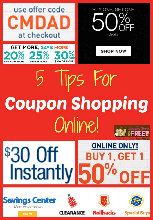 5 Tips For Coupon Shopping Online