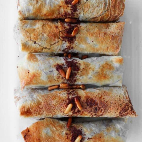 Musukhan chicken sumac rolls