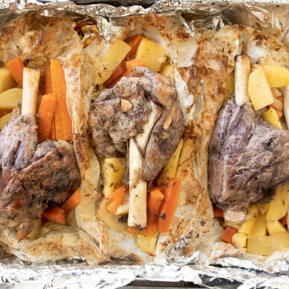 slow cooked lamb shanks in the oven