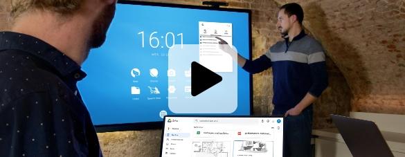 écran interactif espace cloud