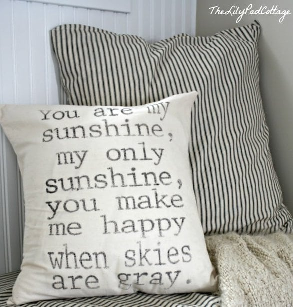 You are my sunshine...pillow