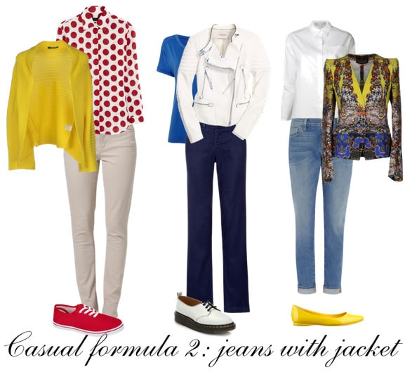 How to look great in casual clothes - formula 2 - Jeans with a jacket | 40plusstyle.com