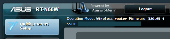 Powered by ASUSWRT Merlin